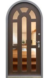 дверь входная арочная с зеркалом
