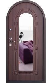 Арочная входная дверь с зеркалом