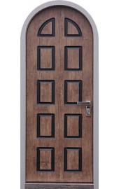 Внутренняя отделка на арочной двери