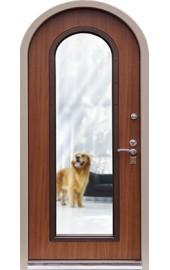 входная арочная дверь со стеклом