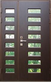 двупольная дверь со стеклопакетами