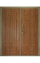 Двустворчатая дверь с отделкой МДФ