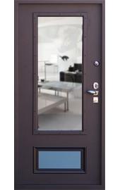 Металлическая дверь со стеклопакетом