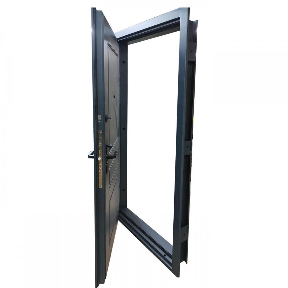 Дверь металлическая М-1 муар 7016 / RAL 7016