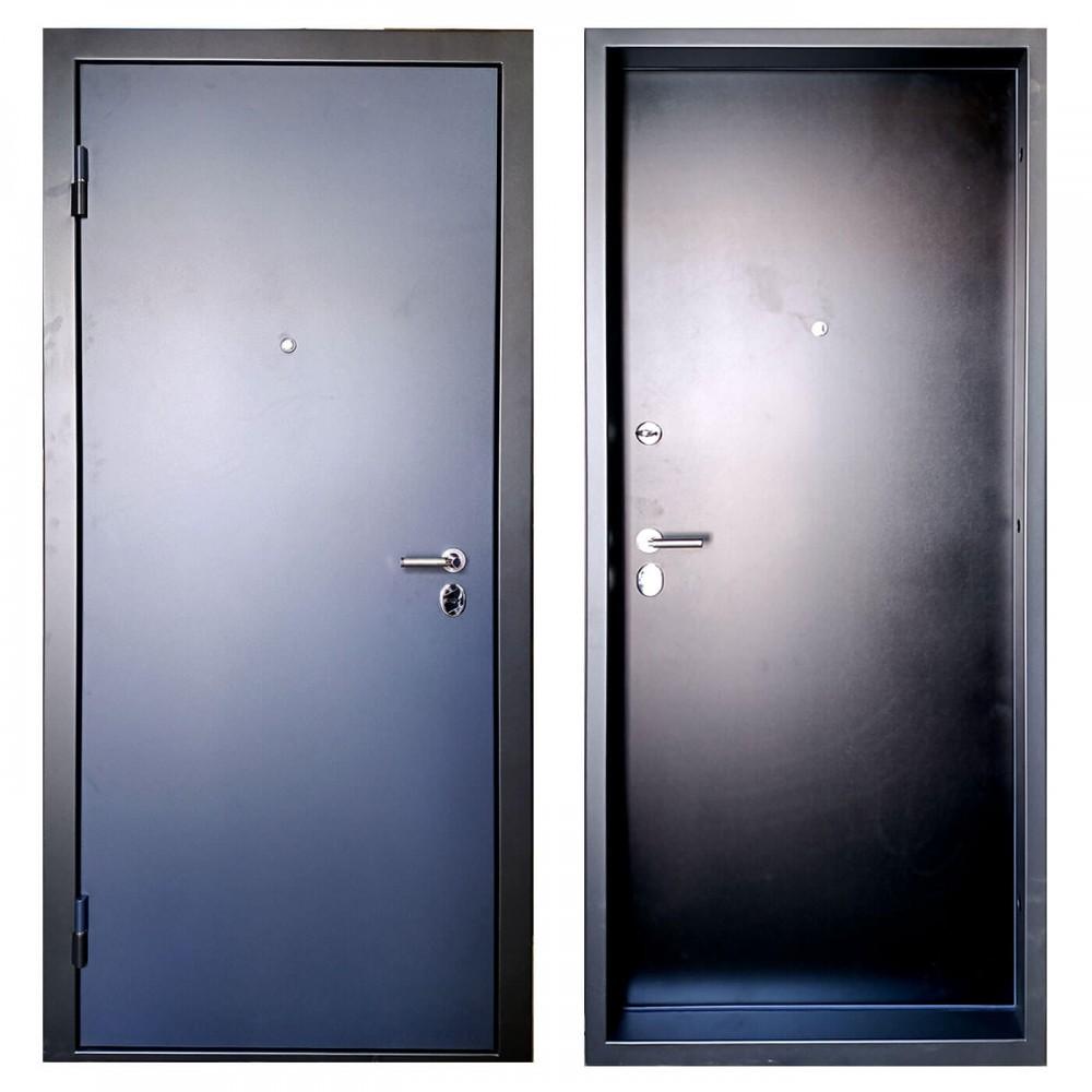 М-1 входная дверь черно-синяя