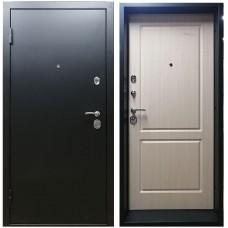 Входная дверь М-2 угольный металлик / выбеленный дуб