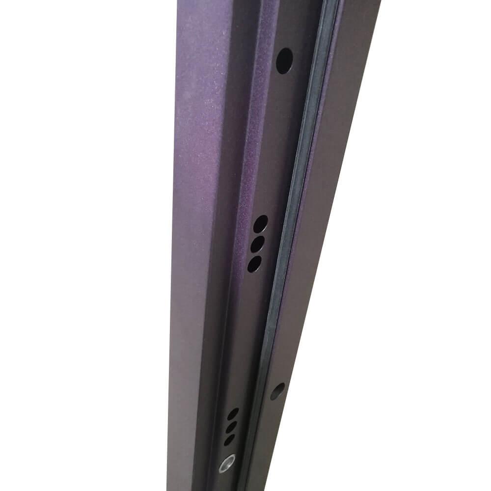 Входная дверь М-8 фиолетовый мрамор / ясень капучино