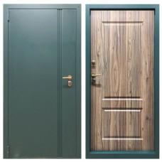 Дверь с терморазрывом М-15-110 зеленый мрамор