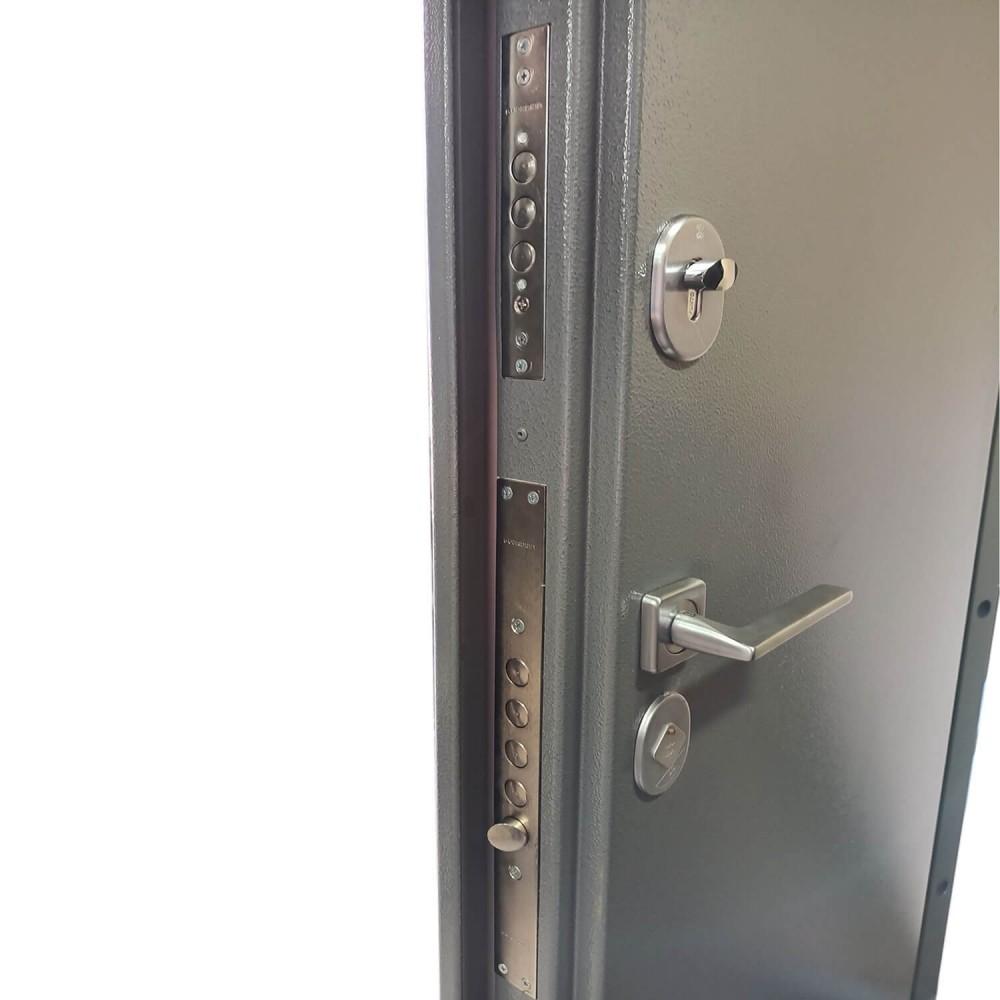 Двустворчатая дверь с терморазрывом М-20-100 серая молотковая